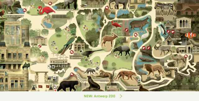 Карта зоопарка Антверпен