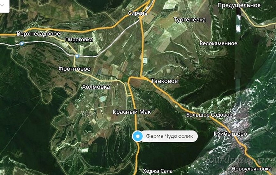 Ферма Чудо-ослик на карте